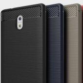 Nokia 6 Silikon Karbon Fiber Kılıf-8