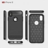 Apple iPhone X Silikon Karbon Fiber Kılıf-3