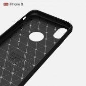 Apple iPhone X Silikon Karbon Fiber Kılıf-6