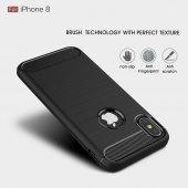 Apple iPhone X Silikon Karbon Fiber Kılıf-7