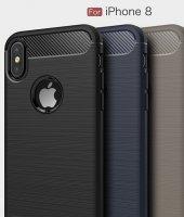 Apple iPhone X Silikon Karbon Fiber Kılıf-8