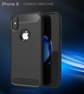Apple iPhone X Silikon Karbon Fiber Kılıf-10