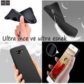 Galaxy J7 2015 Kaliteli Soft Siyah Silikon Kılıf