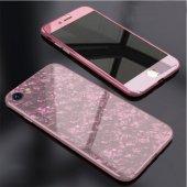 İPhone 6 7 8 S Plus Kaliteli Mermer Desenli 360 Tam Koruma Kılıf-5