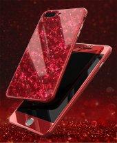 İPhone 6 7 8 S Plus Kaliteli Mermer Desenli 360 Tam Koruma Kılıf-7