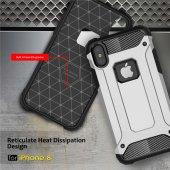 iPhone X Silikon Armor Hybrid Zırh Kılıf-11