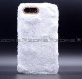 Apple iphone 8 Donka Düz Renkli Peluş Kapak-4