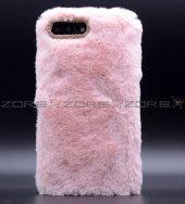 Apple iphone 8 Donka Düz Renkli Peluş Kapak-6