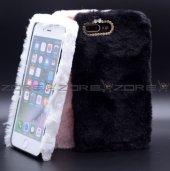 Apple iphone 8 Donka Düz Renkli Peluş Kapak-7
