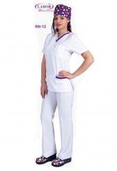 Hemşire Forması Renkli Biyeli Rn 12