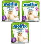 Molfix Bebek Bakım Alt Açma Örtüsü 3 Lü Set 30 Adet (3pk*10)
