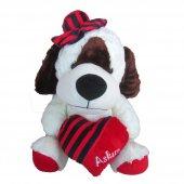 şapkalı Kalpli Peluş Köpek 55 Cm