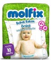 Molfix Bebek Bakım Alt Açma Örtüsü Tekli Pk (İç Adet 10)