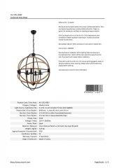 AVONNI AV-1551-4BSY Siyah Boyalı Modern Avize-3