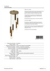 AVONNI AV-1651-6ET Eskitme Kaplama Modern Avize-3
