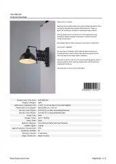 AVONNI HAP-9082-BSY Siyah Boyalı Aplik-3