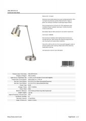 AVONNI HML-9074-M1-N Nikel Kaplama Masa Lambası-3