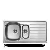 Ukınox Evye 1000x500 0.60 Mm 1.göz Düz Sol Damlalıklı