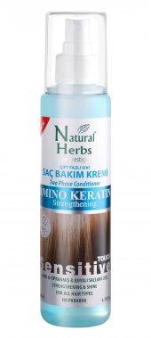 Natural Herbs Amino Keratin Sıvı Saç Kremi Mavi Su