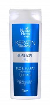 Natural Herbs 300 Ml Sülfatsız Tuzsuz Parabensiz Keratin Şampuan
