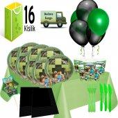 16 Kişilik Minecraft Doğum Günü Parti Süsleri Seti
