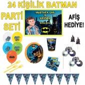 24 Kişilik Batman Doğum Günü Seti & Afiş Hediyeli