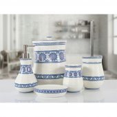 Irya Tıle 5 Prç Banyo Seti Mavi