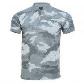 4018 Gri Kamuflaj Kısa Kol T-Shirt M