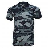 4018 Siyah Kamuflaj Kısa Kol T-Shirt L