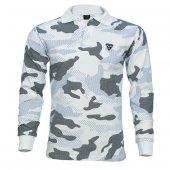 4018 Beyaz Kamuflaj Uzun Kol Sweatshirt L