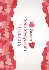 RugRita Sevgililere Özel İsimli Dekoratif Halı Desen 4-2