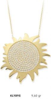 14 Ayar Altın Güneş Kolye Kly895