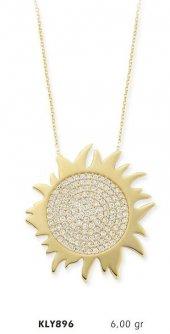 14 Ayar Altın Güneş Kolye Kly896