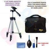 Nikon D5600 140cm Tripod + Set Çanta + Temizlik Seti