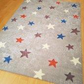 çocuk Odası Halısı Antialerjik Yıldız Desenli Yeni İ B408 180x280