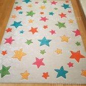 çocuk Odası Halısı Antialerjik Yıldız Desenli Yeni İ B408 80x140