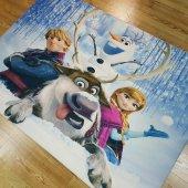 çocuk Odası Halısı Frozen Karlar Ülkesi Yeni Model İ B900 130x190