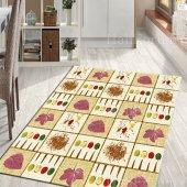 Mutfak Halısı Modelleri Kaymaz Taban Dekoratif Halı İ S17 80x140