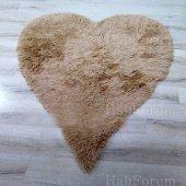 Post Halı Tavşan Tüyü Kalp Kesim Doğuş Post Halı Camel 140x200