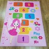 çocuk Odası Halısı Modelleri Sihirli Barby Seksek İ B969 100x140