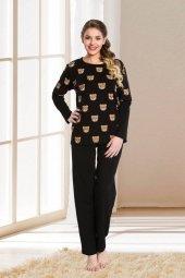 Lady Siyah Bayan Pijama Takımı