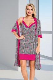 Lady Pembe 4lü Pijama Takımı
