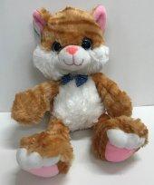 40cm Miyav Sesli Sevimli Kedi Renkli Gözlü...