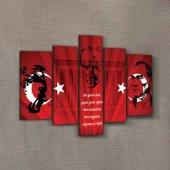 Atatürk 34 Kanvas Tablo 135x85 Cm