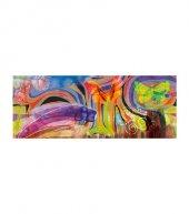 Soyut Kanvas Tablo 40x120 Cm