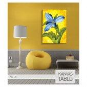 Blue Flower Kanvas Tablo 50X70 Cm-3