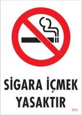 Sigara İçmek Yasaktır Uyarı Levhası 25x35 Kod 853
