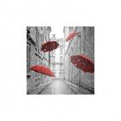Kırmızı Şemsiyeler Bulaşık Makinesi Sticker