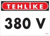 380 V Tehlike Uyarı Levhası 25x35 Kod 1115