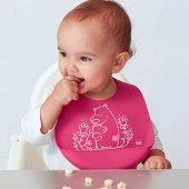 Agubugu Baby Cepli Silikon Mama Önlüğü Pembe